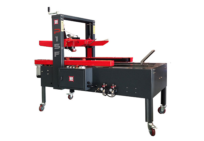 Semi-automatic uniform case sealer or carton sealer with case former or case erector model P15F