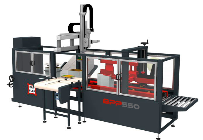 Case packer automática modelo BPP500 frontal